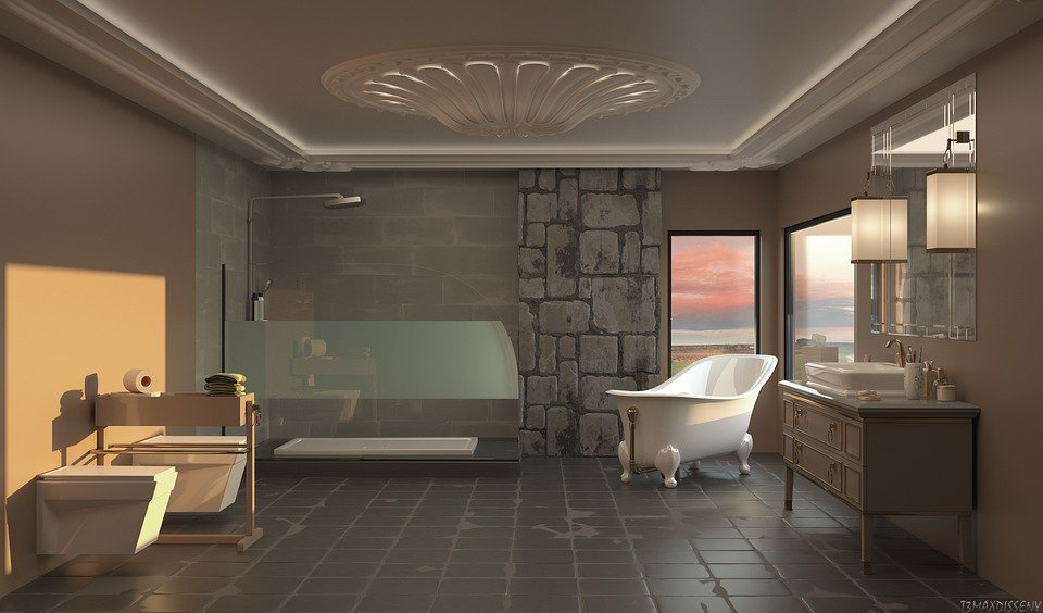 beautifully-designed master bath